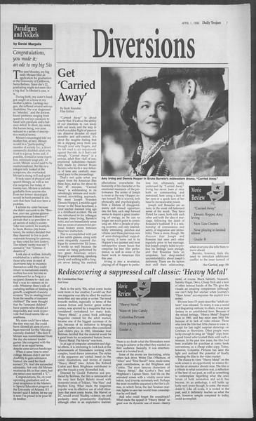 Daily Trojan, Vol. 127, No. 48, April 01, 1996