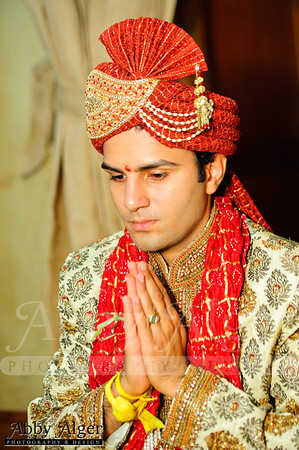 Groom's Prayer before Wedding Ceremony