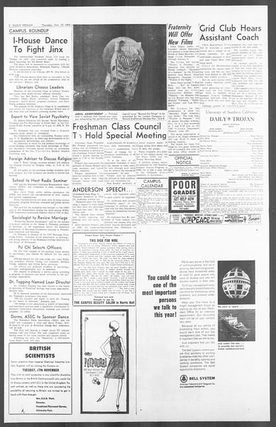 Daily Trojan, Vol. 56, No. 38, November 12, 1964
