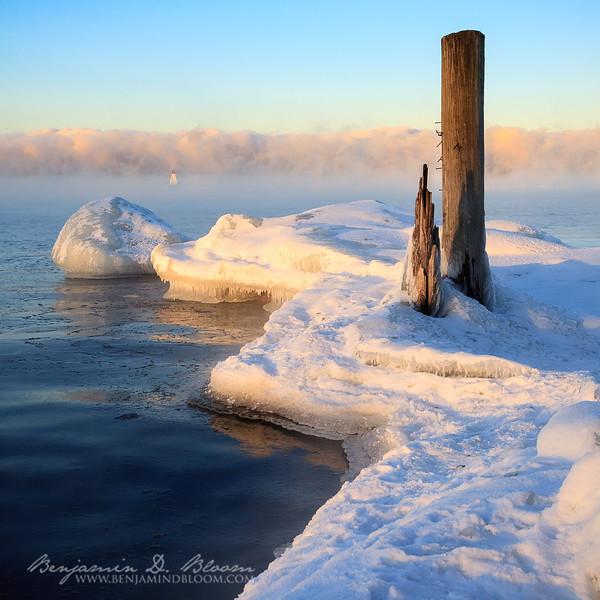 Cold morning on Lake Champlain