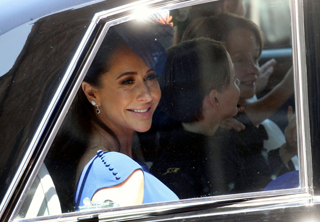. Jessica Mulroney arrives at the wedding ceremony of Prince Harry and Meghan Markle at St. George\'s Chapel in Windsor Castle in Windsor, near London, England, Saturday, May 19, 2018. (Chris Jackson/pool photo via AP)