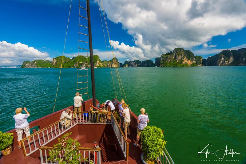 Setting sail on Halong Bay.