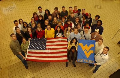 21901 SGA Students with Flags