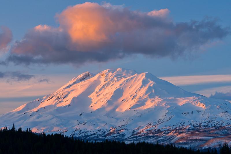 Sunset-Lit Cloud Over Mt. Adams