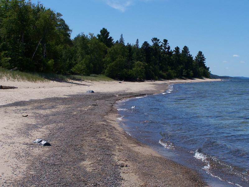 Twelvemile beach is a twelve mile stretch of coastline between Beaver Creek and Au Sable Point.