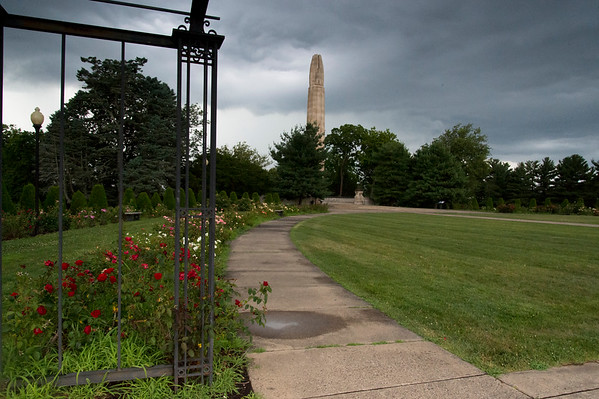 07/17/19 Wesley Bunnell | Staff A late afternoon thundershower begins to roll across Walnut Hill Park on Wednesday July 17, 2019.