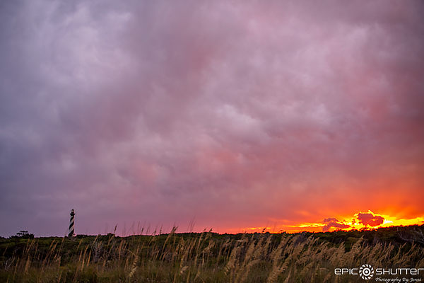 July 28, 2021 Sunset Cape Hatteras Lighthouse, Buxton,
