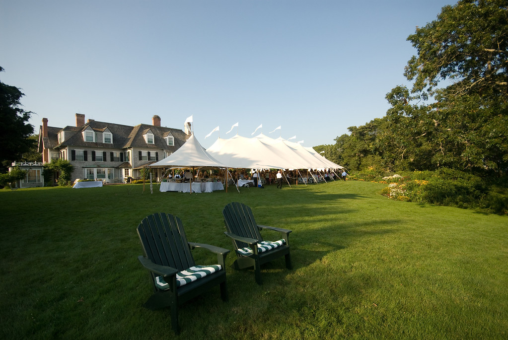 A wedding reception at a private home on Cape Cod. Photo by Amy Riley - Home - The Casual Gourmet, Cape Cod Wedding Caterer