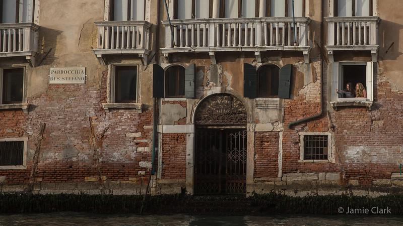 Vaporetto ride in Venice, Italy -  October 2017