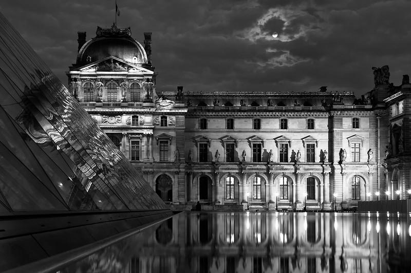 Paris Louvre Moon