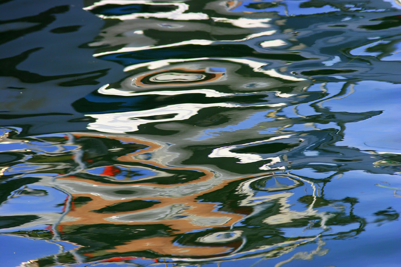 Water Totem - Reflections from the boat dock in Tofino B.C..