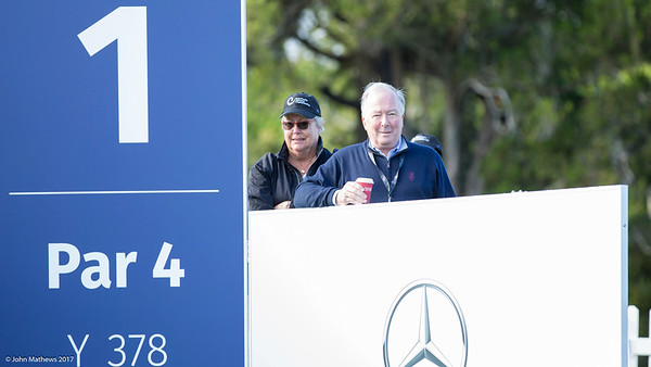 Andrew Meehan watching Practise Day 1 of the Asia-Pacific Amateur Championship tournament 2017 held at Royal Wellington Golf Club, in Heretaunga, Upper Hutt, New Zealand from 26 - 29 October 2017. Copyright John Mathews 2017.   www.megasportmedia.co.nz