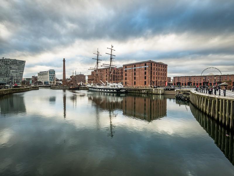 Winter Clouds above the Albert Docks, Liverpool, England