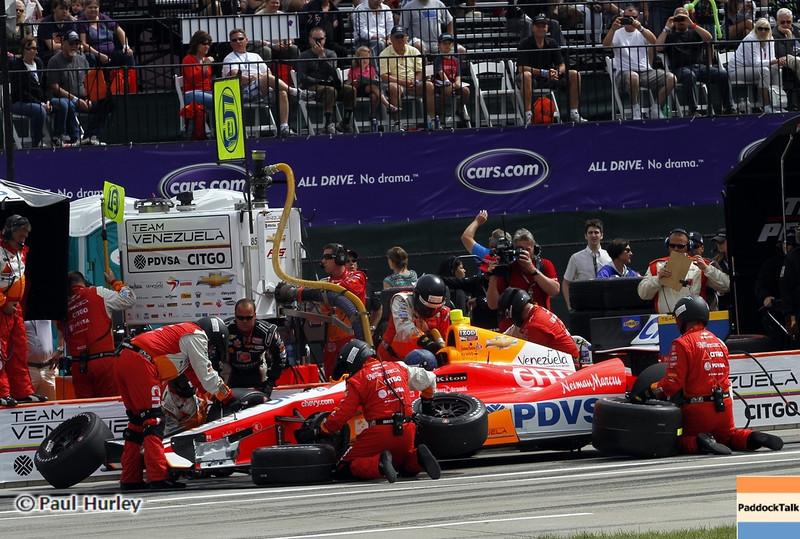 June 2: Pit stop during the Chevrolet Detroit Belle Isle Grand Prix.