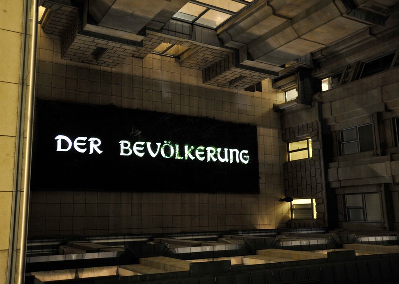 """""""The People"""" - artwork by Hans Haacke, installed in The Bundestag in 1999."""
