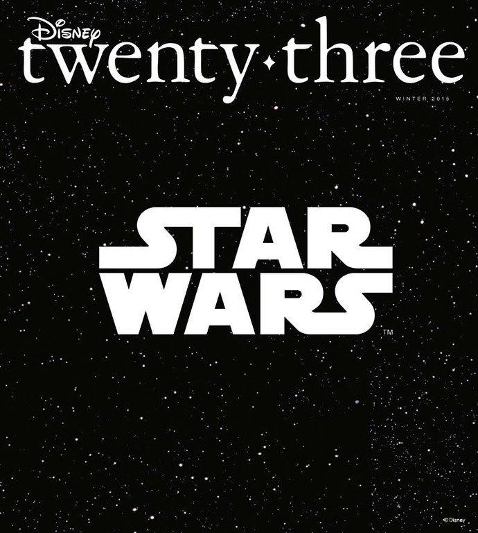 Star Wars awakens, a Good Dinosaur stomps, and more in 'Disney twenty-three' 2015 Winter Issue