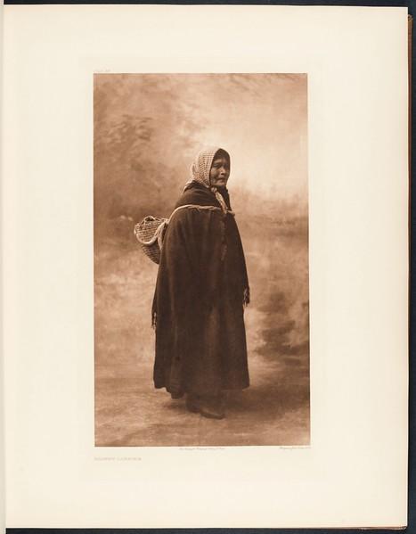 The North American Indian, vol. 9 suppl., pl. 311. Basket carrier
