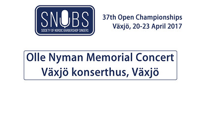 2017-0420 SNOBS - Olle Nyman Memorial Concert