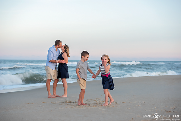 Avon, North Carolina, Family Portraits, Sunset