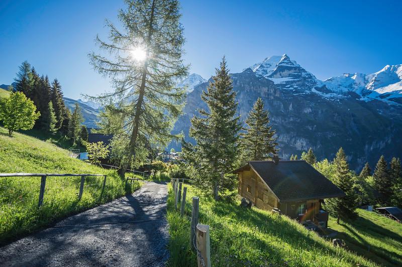Morning Hike in Switzerland