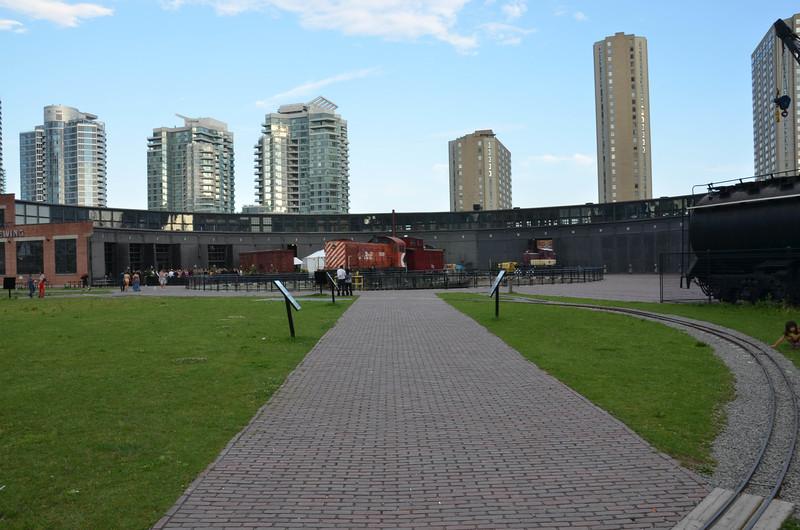 Historic railyard in downtown Toronto