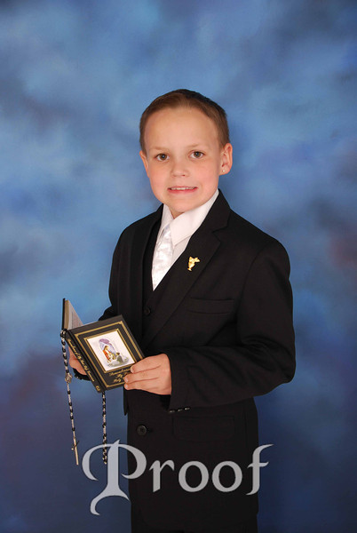 James E's Communion Pics.
