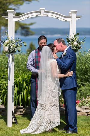 Sara + Thad Wedding Images Bay View Inn Petoskey Michigan