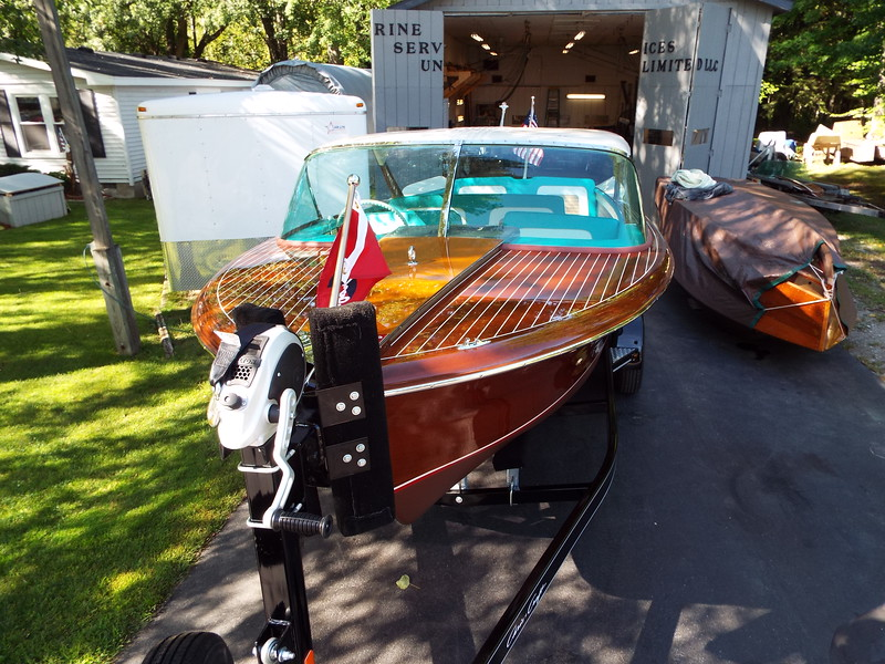 Front deck completed boat.