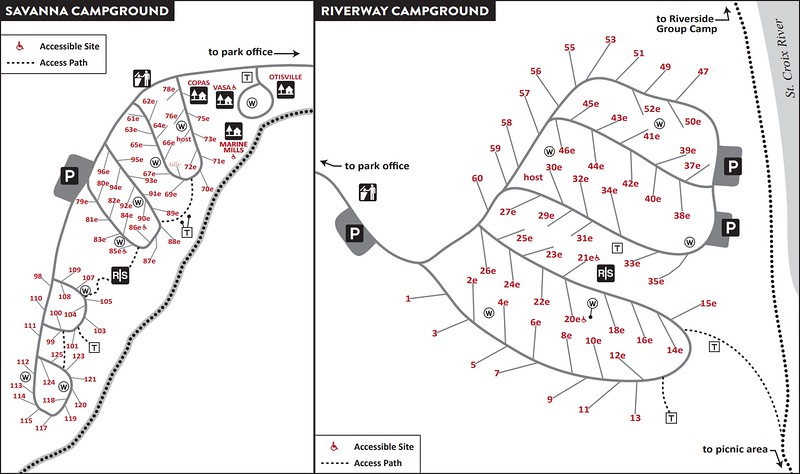 William O'Brien State Park (Campground Maps)