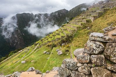 Agricultural zone with terraces in Machu Picchu