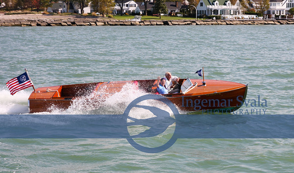 October 21, 2015. Photo assignment for Moes Marine in Vermilion----A 1927 27' Dodge Water Car-very rare.
