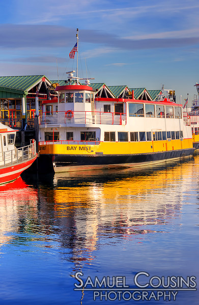 The Bay Mist docked at the Casco Bay Lines.