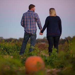 Rachel and Joe's Engagement, Mr Peppers Pumpkin Patch, Laurel DE