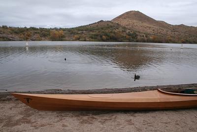 Kayaking Saguaro and Pategonia Lakes