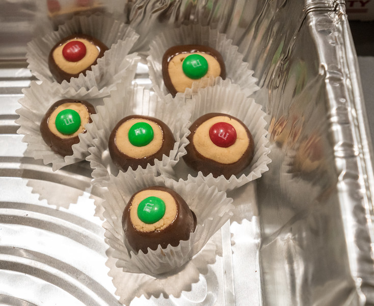 Judy and Ron's homemade buckeyes were so popular only a few were left for a photo