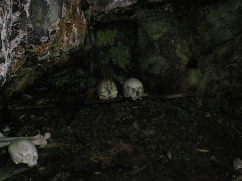 an ancient first nations burial cave