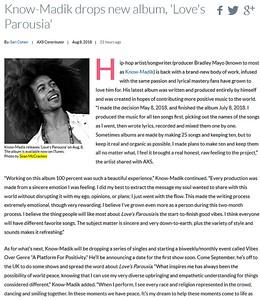 Knowmadik Article - AXS webpage
