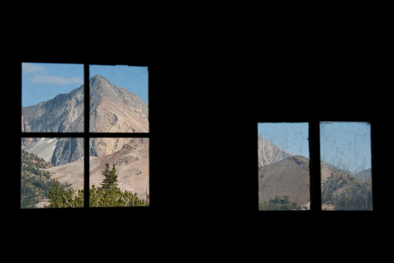 Looking out the Pio Cabin windows.