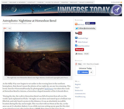 Universe Today: Terrestrial Tuesdsay