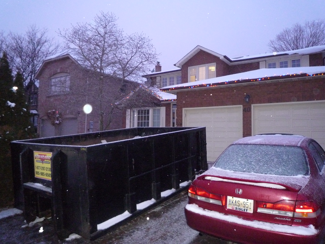 For 2 days I had a dumpster in the driveway.  Too bad I didn't really make use of it while it was here.