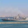 Warship in the Harbor, Odessa, Ukraine