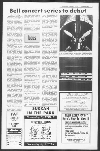 Daily Trojan, Vol. 64, No. 12, October 06, 1971