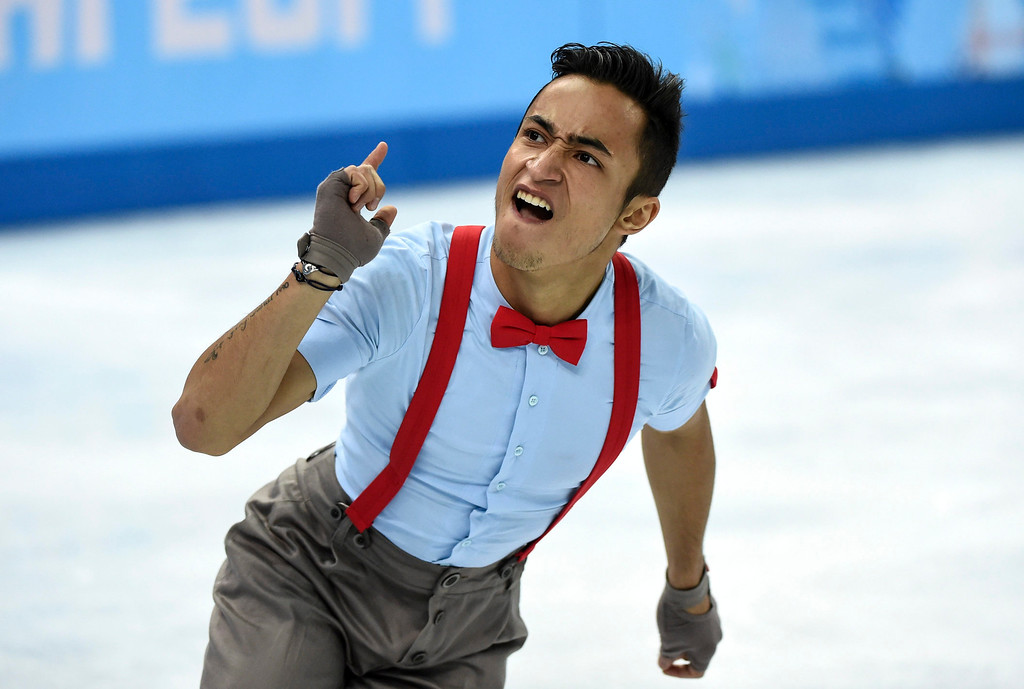 . Florent Amodio, of France, competes in the men\'s free skate figure skating final at the Iceberg Skating Palace during the 2014 Winter Olympics, Friday, Feb. 14, 2014, in Sochi, Russia. (AP Photo/The Canadian Press, Paul Chiasson)