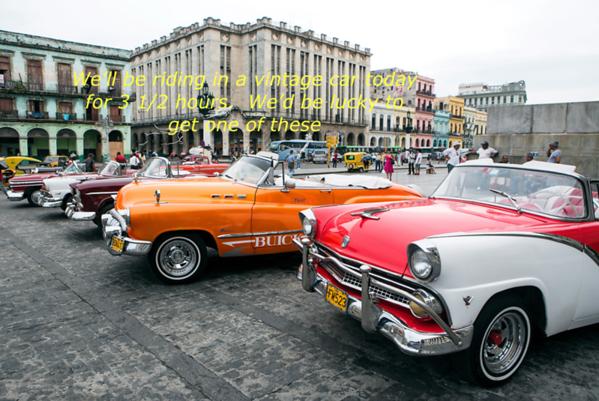 Sat., Dec. 2, 2017 -  Havana - Classic American Car - Dec. 2, 2017 - 3 1/2 hours