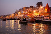 Varanasi sunrise on the sacred Ganges River, India