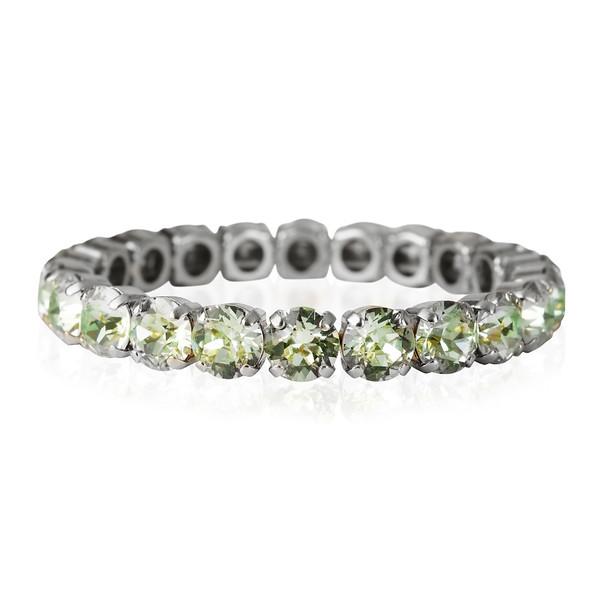 Gia Stretch Bracelet-Chrystolite-rhodium.jpg