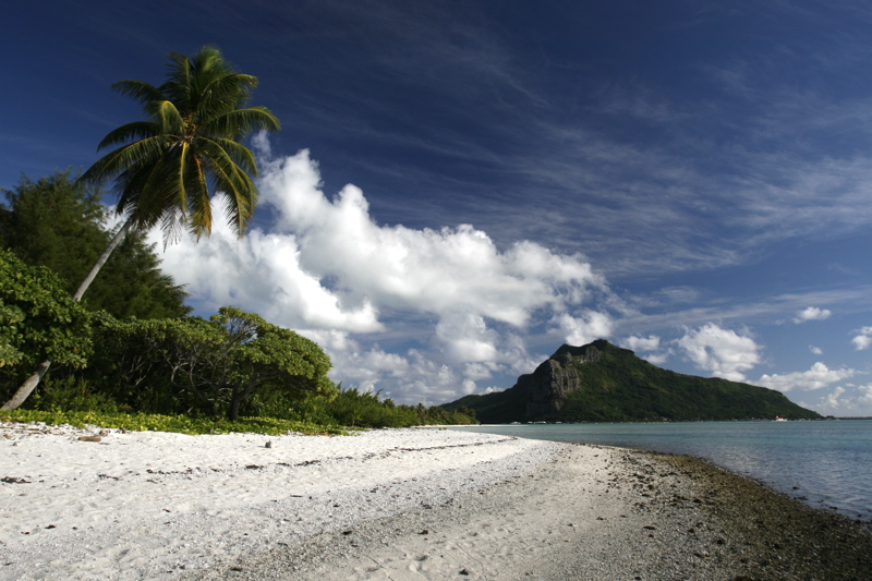 View of main island from Motu Tiapa'a (near Kuriri Village)