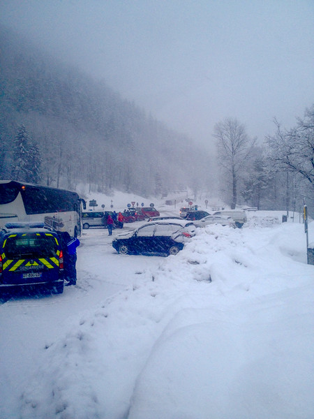 Chaining up at Bourg St. Maurice