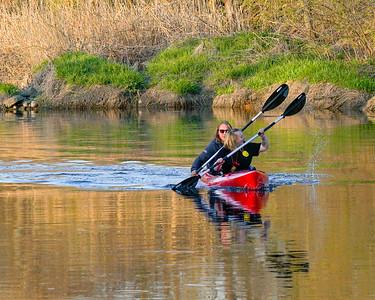 Georgia & Gus Kayaking April 2020