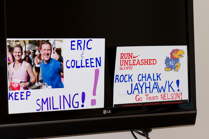 Carrie takes a bit of time to decorate the room